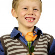 Boy with flower — Stock Photo #3912835