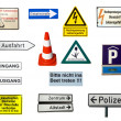 German signs - Stock Photo