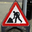 Royalty-Free Stock Photo: Roadworks sign