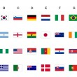 Stock Photo: World cup flags