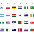 World cup flags — Stock Photo