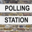 Polling station - Stock Photo