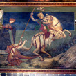 St George killing the drake — Stock fotografie
