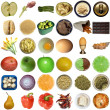Stock Photo: Food collage isolated