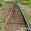 Railway railroad tracks — Stock fotografie