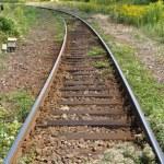 Railway railroad tracks — Stock Photo #3532527