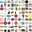 Many objects isolated - Photo