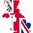 uk map — Stock Photo