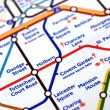 Tube map of London underground - Stock Photo