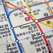 New York subway map — Stock Photo