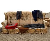 Eski koltuk — Stok fotoğraf