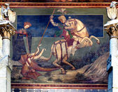 St George killing the drake — Stock Photo