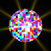 Disco mirror glitter ball — Stock Photo