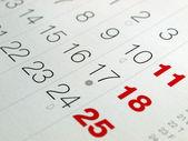 Calendario — Foto Stock