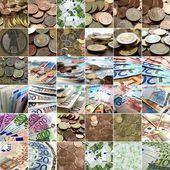 お金のコラージュ — ストック写真