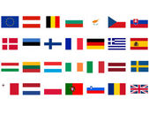 European flags — Stock Photo