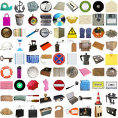 Many objects isolated — 图库照片