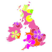 UK map — Стоковое фото