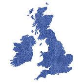 Mappa di regno unito — Foto Stock