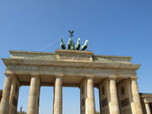 бранденбургские ворота, берлин — Стоковое фото