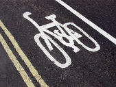 Segno di corsia bici — Foto Stock