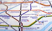 Mappa di tubo della metropolitana di londra — Foto Stock