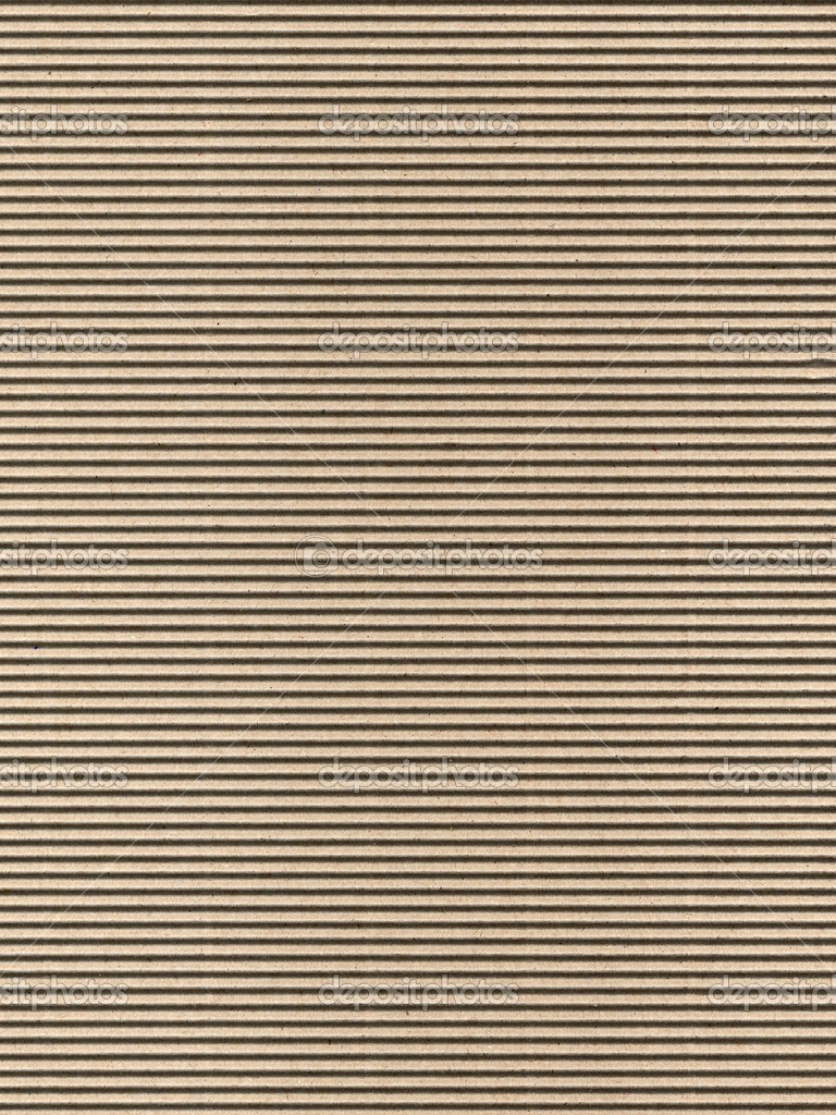Seamless brown corrugated cardboard sheet useful as a background — Stock Photo #3532760