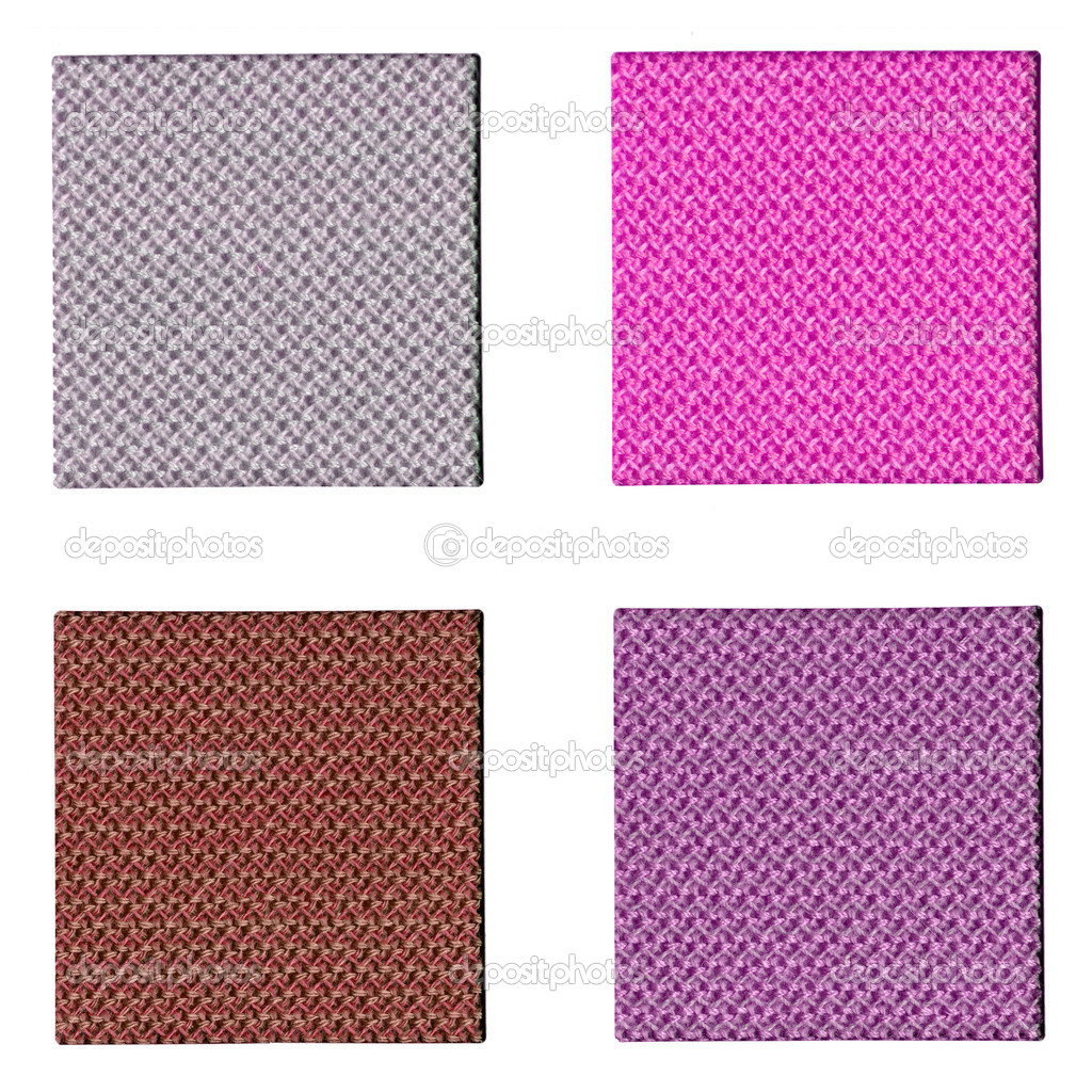Colour fabric sampler over a white background — Stockfoto #3533691