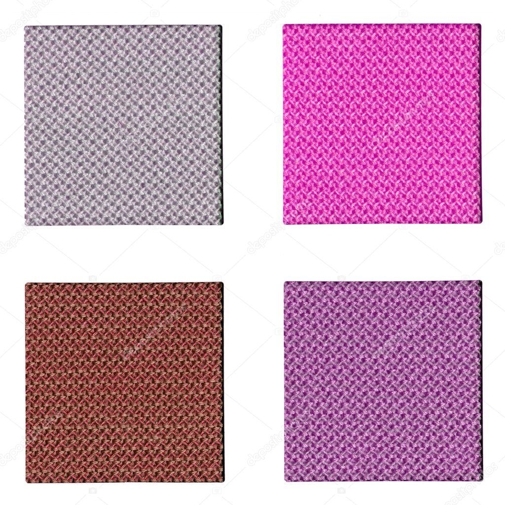 Colour fabric sampler over a white background — Stock fotografie #3533691