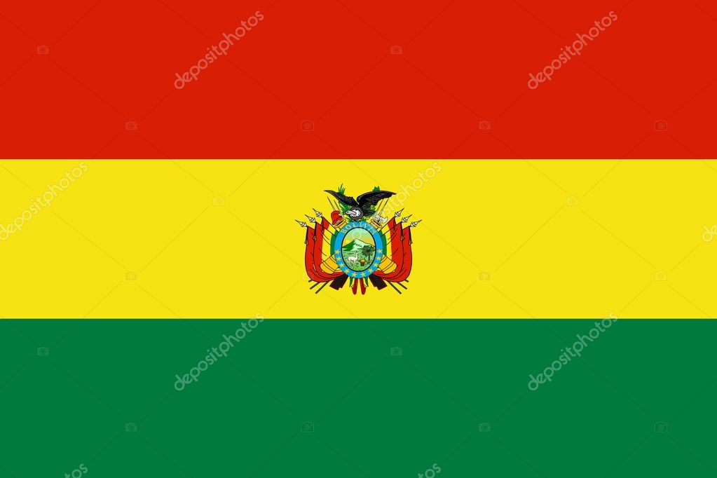 The national flag of Bolivia — Stock Photo #3536799