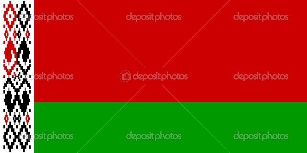 The national flag of Belarus — Stock Photo #3536809