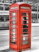 Лондонская телефонная будка — Стоковое фото