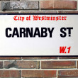 Carnaby Street sign — Stock Photo