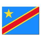 The national flag of Democratic Republic Congo — Stock Photo
