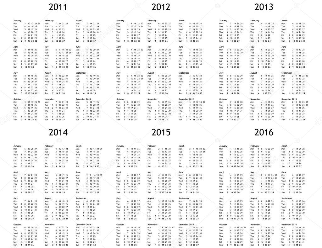 Multi-Year Calendar 2014 2015
