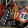 Roadworks signs — Stock Photo #3770394