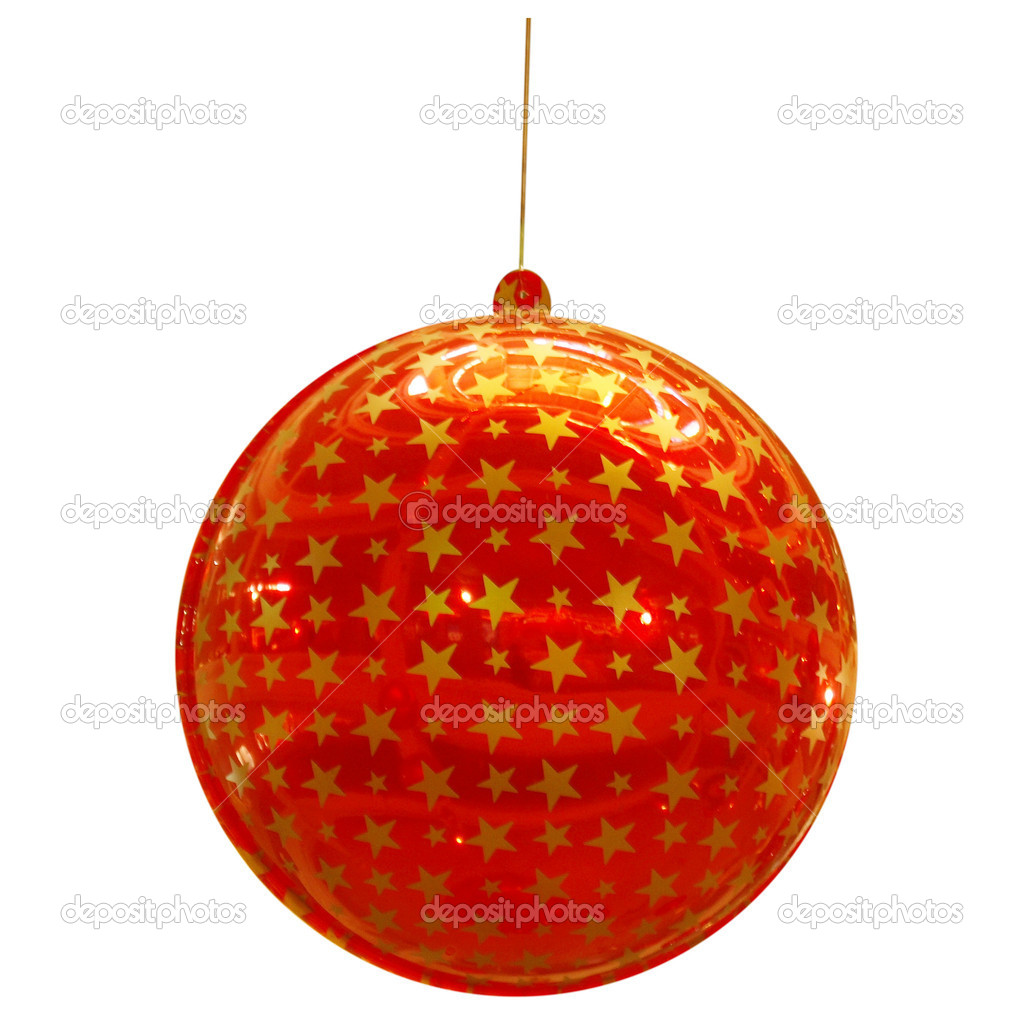 Detail of coloured Christmas bauble for tree decoration - isolated over white background — Stock Photo #3814304