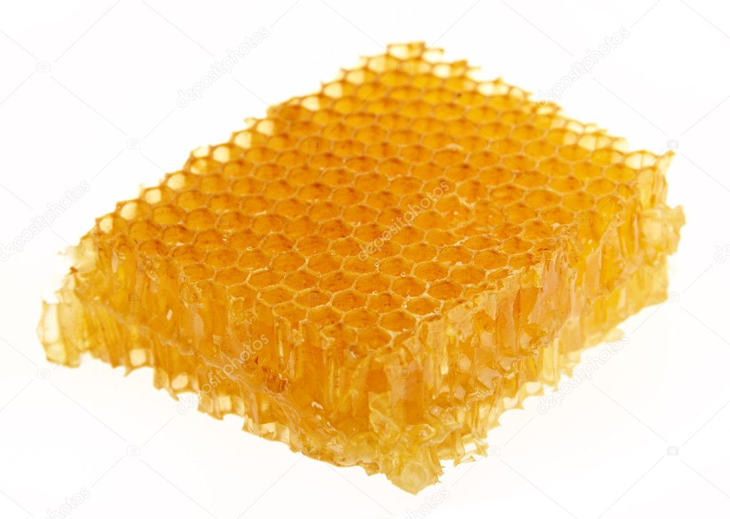 Yellow honeycomb wax cell detail texture background  Stock Photo #3627886