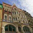 Stock Photo: Ancient buildings in street on old Riga