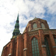 Peter and Pavil's church in centre of Riga — Stock Photo