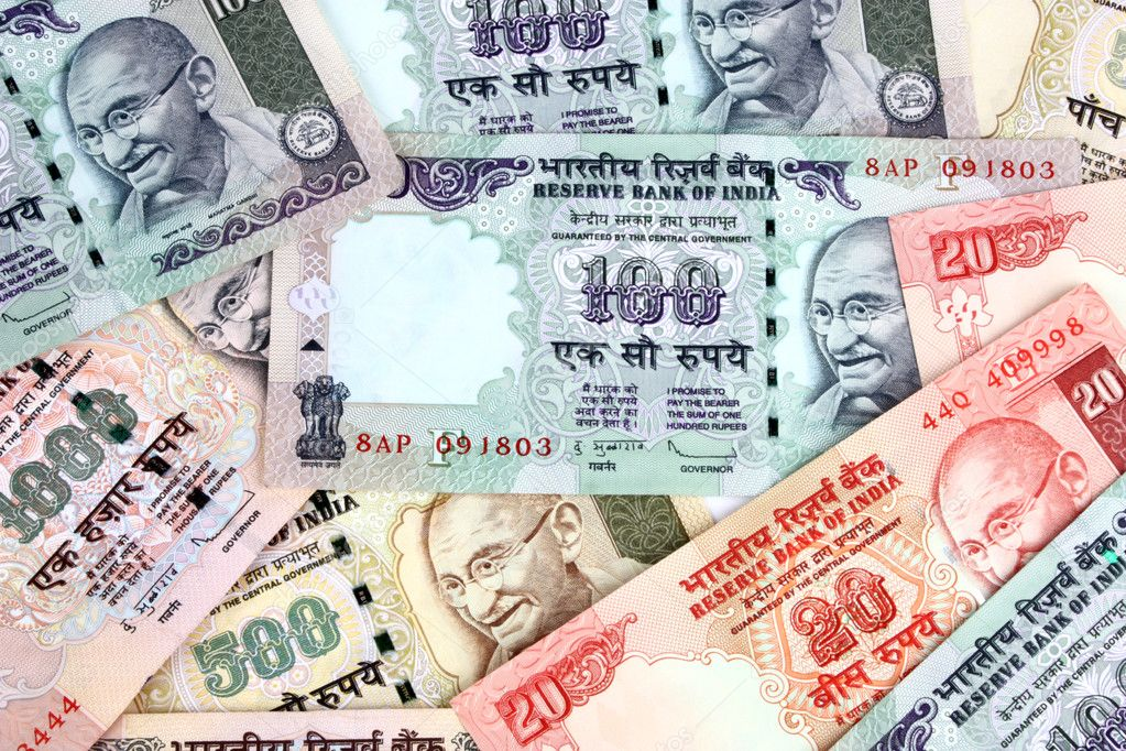 Rupee Note Vector Closeup of Indian Rupee Notes