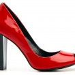Red female shoe with open toe — Stock Photo #3529066