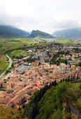 Panoramic view of Arco and Riva del Garda (Trentino, Northern Italy) — ストック写真