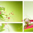 Green globe spring abstract — Stock Photo