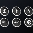 Stock Photo: Financial 3d metallic icon
