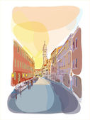 Venetian summer sunrise — Stock Vector