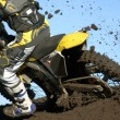 Moto mud — Stock Photo