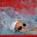 Free swimmer — Stock Photo