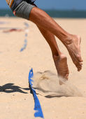 Beachvolley Feet — Stock Photo