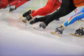 Ice-Skaters Legs Close Up — Stock Photo